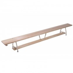 GYMNASTIC BENCH 2,5M LONG, WITH METAL LEGS
