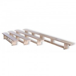 Gymnastic bench with wooden legs  200-400cm