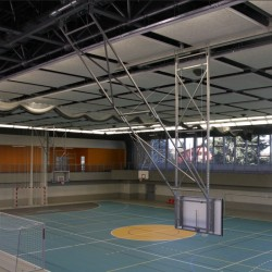 Ceiling or wall mounted basketball electric units